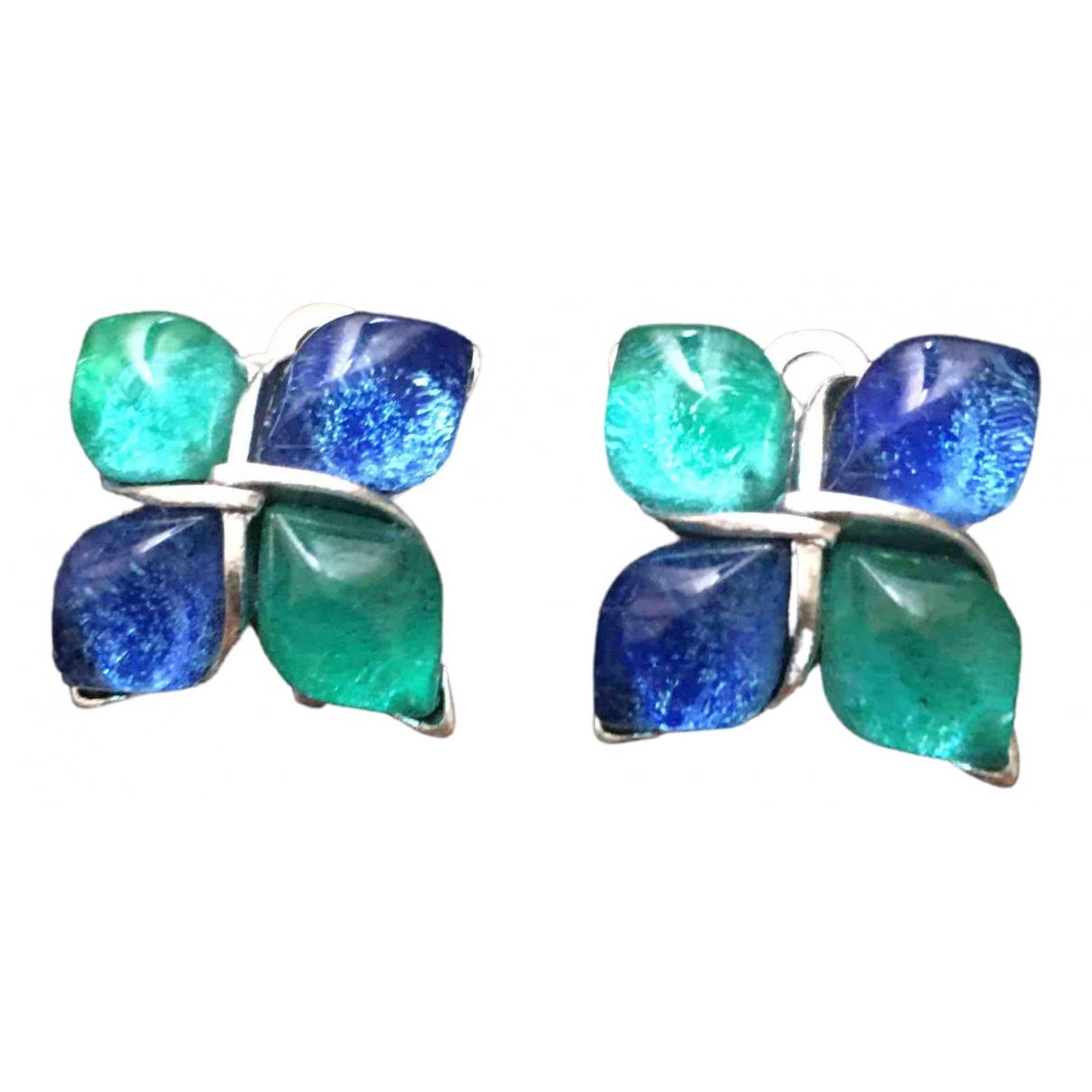 Yves Saint Laurent \N Blue Metal Earrings for Women \N