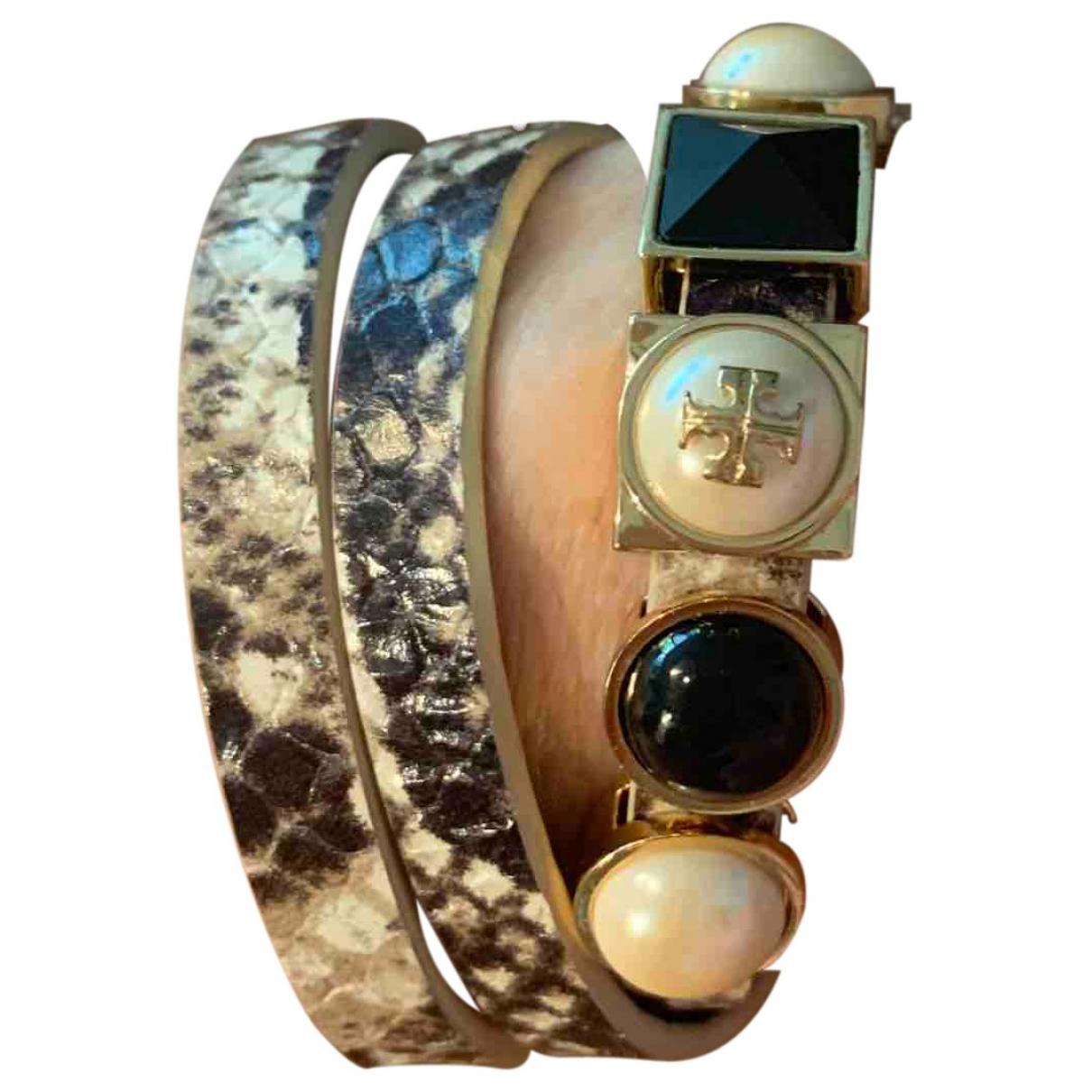 Tory Burch - Bracelet   pour femme en cuir - argente