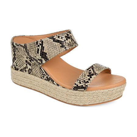 Journee Collection Womens Alissa Slip-On Shoe, 7 1/2 Medium, Multiple Colors