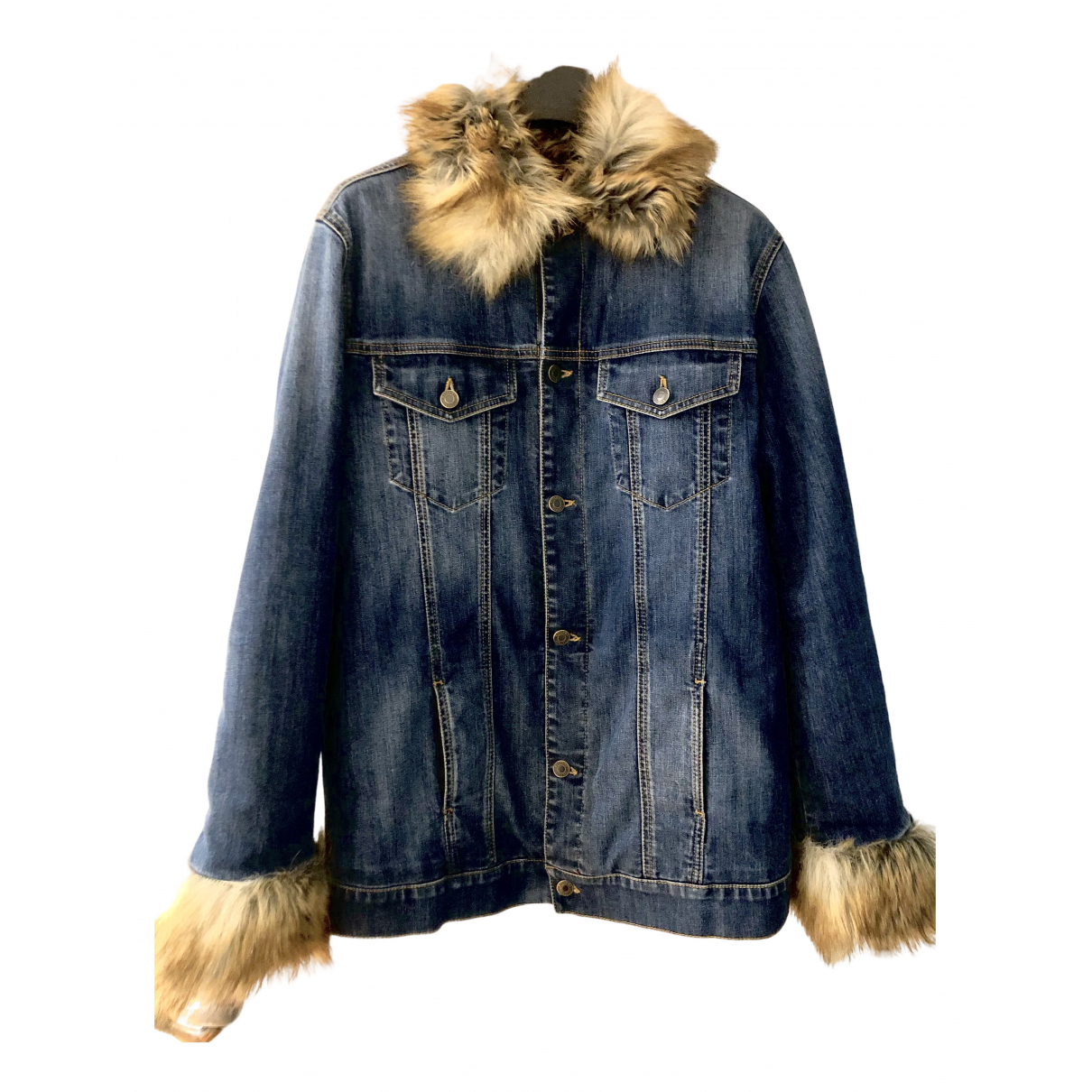 Moschino N Blue Denim - Jeans coat for Women 40 IT