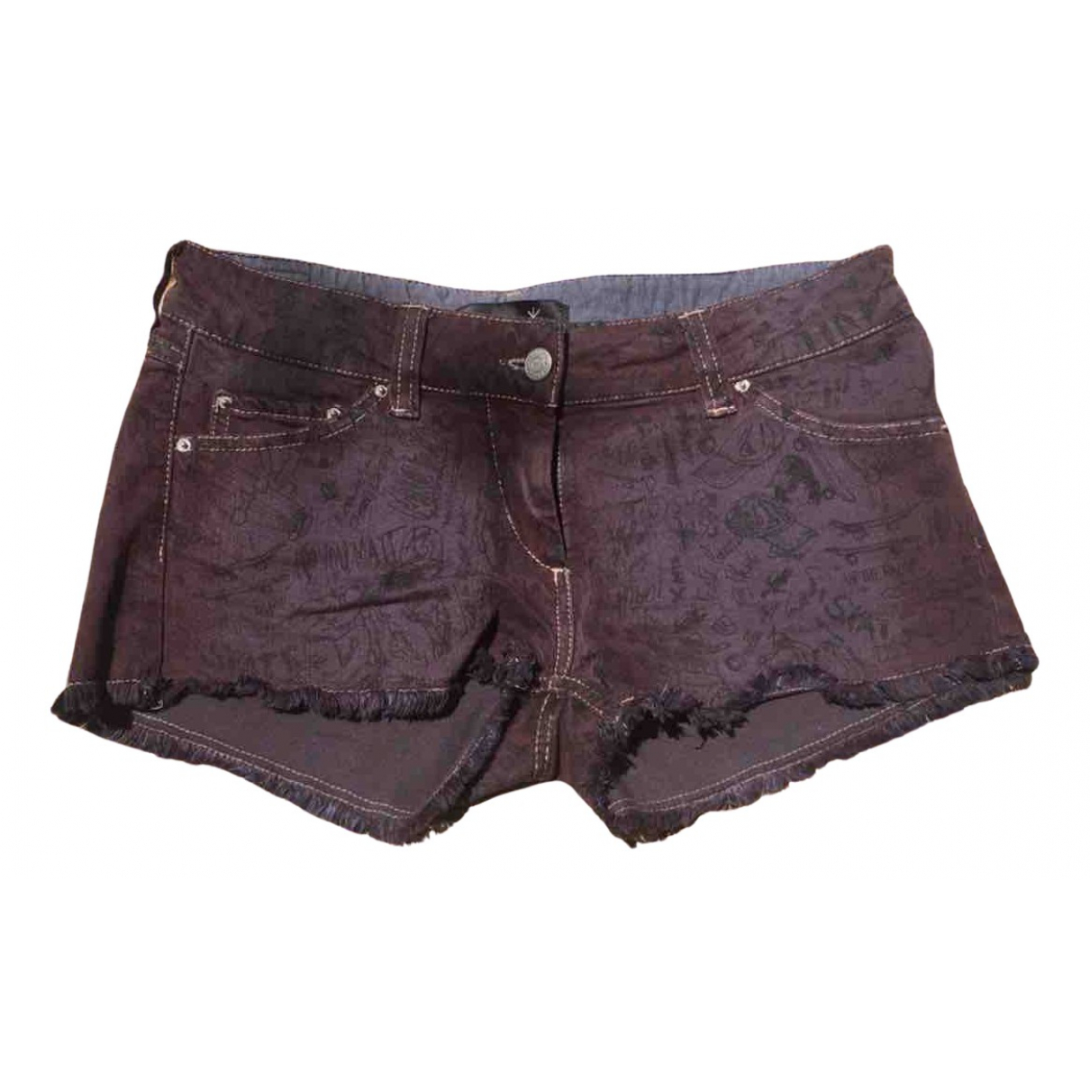 Isabel Marant \N Purple Denim - Jeans Shorts for Women 36 FR
