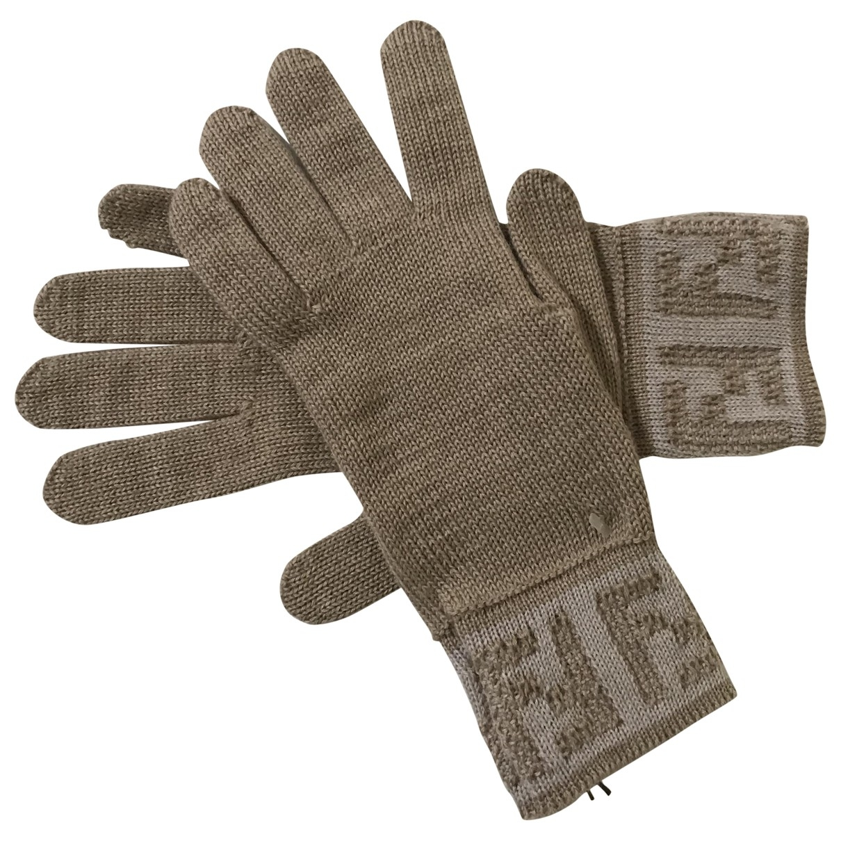 Fendi \N Beige Wool Gloves for Women M International