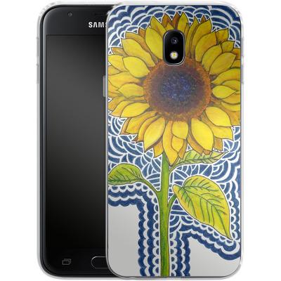 Samsung Galaxy J3 (2017) Silikon Handyhuelle - Sunflower Drawing von Kaitlyn Parker