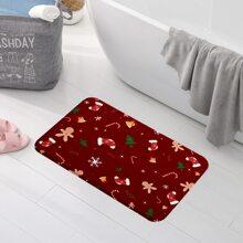 Bodenmatte mit Weihnachten Muster