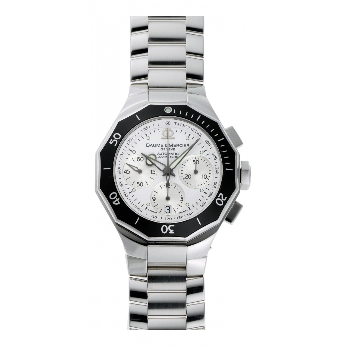 Baume Et Mercier Riviera Silver Steel watch for Men \N
