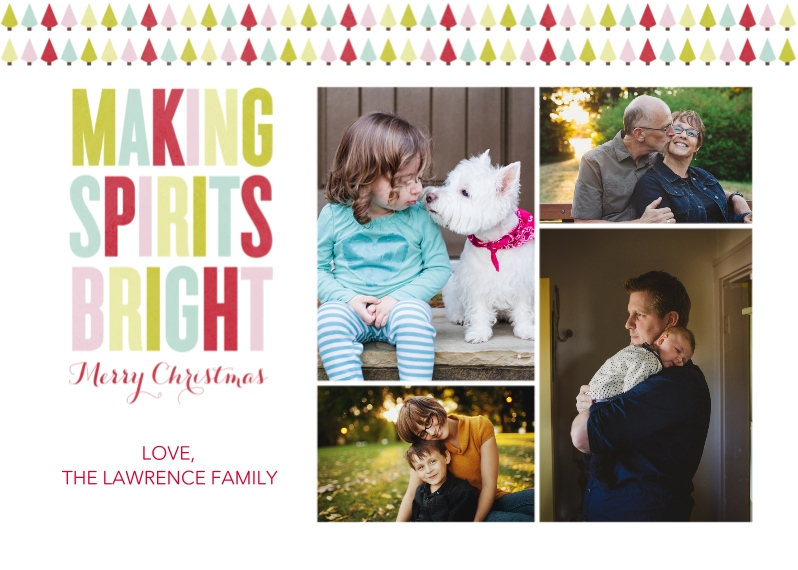 Christmas Photo Cards 5x7 Cards, Premium Cardstock 120lb, Card & Stationery -Making Spirits Bright