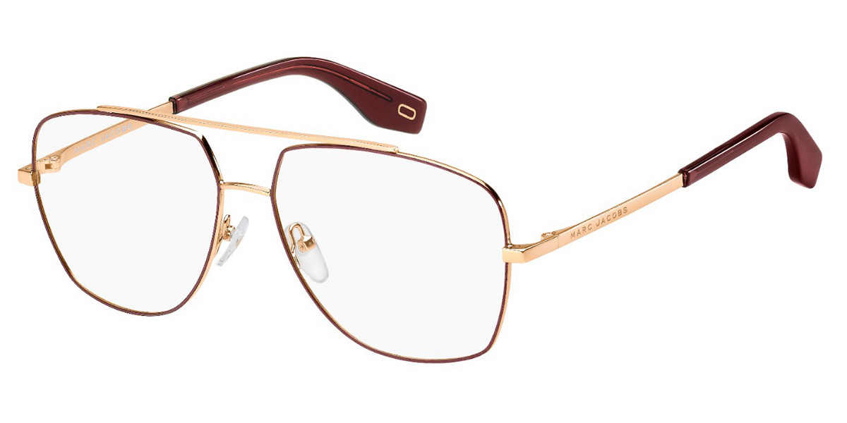 Marc Jacobs MARC 271 NOA Men's Glasses Burgundy Size 58 - Free Lenses - HSA/FSA Insurance - Blue Light Block Available