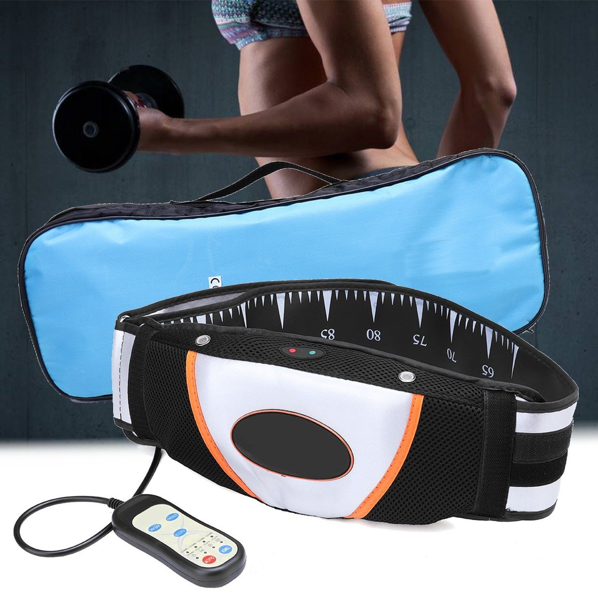 Vibration Heating Slimming Belt Electric Massage Muscle Relax Physical Slimming Therapy Body Shaping