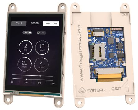 4D Systems SK-gen4-IoD-28T TFT LCD Colour Display / Touch Screen, 2.8in, 240 x 320pixels