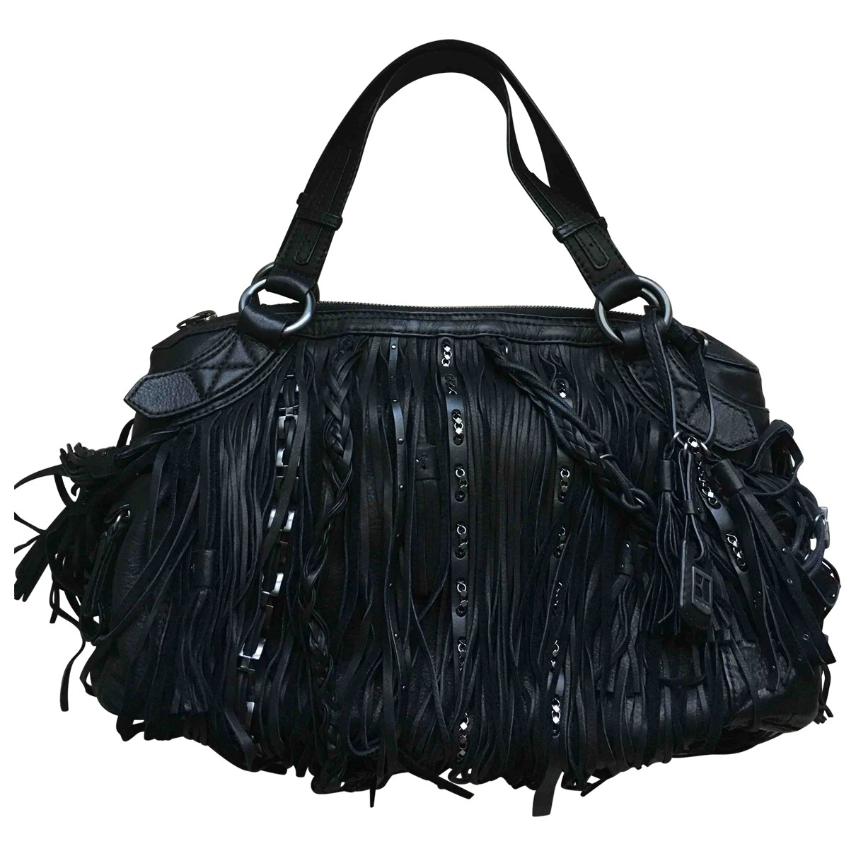 Boss Orange \N Handtasche in  Schwarz Leder