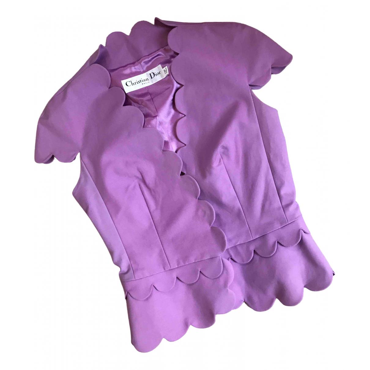 Dior - Top   pour femme en coton - violet