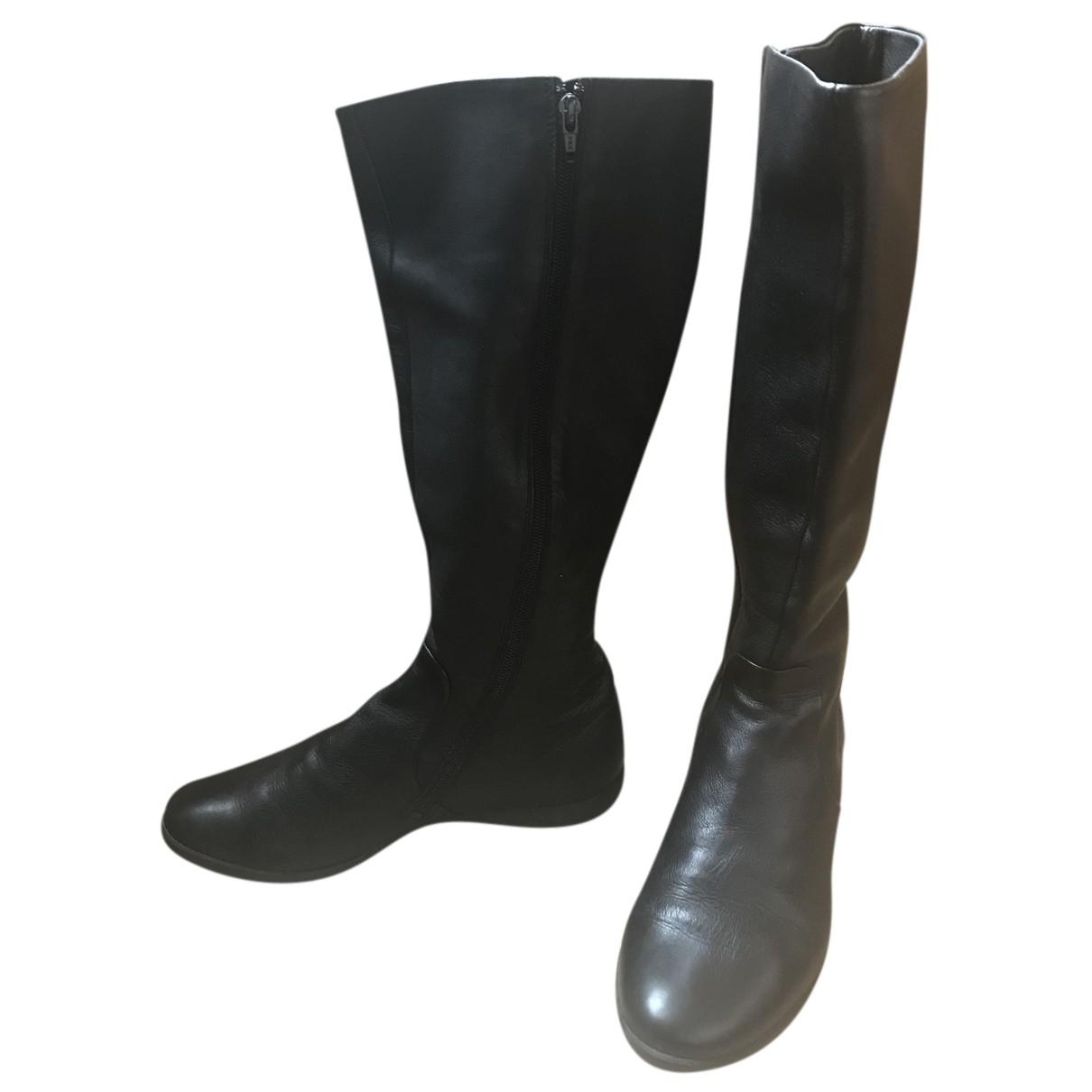 Camper - Bottes   pour femme en cuir - noir