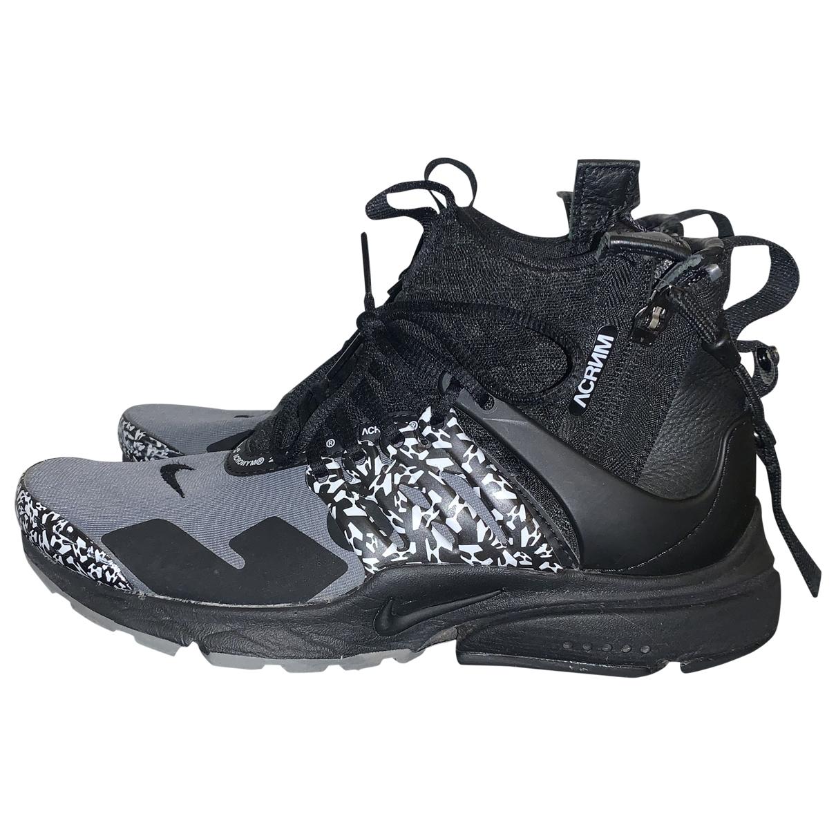 Nike X Acronym - Baskets   pour femme en toile - noir