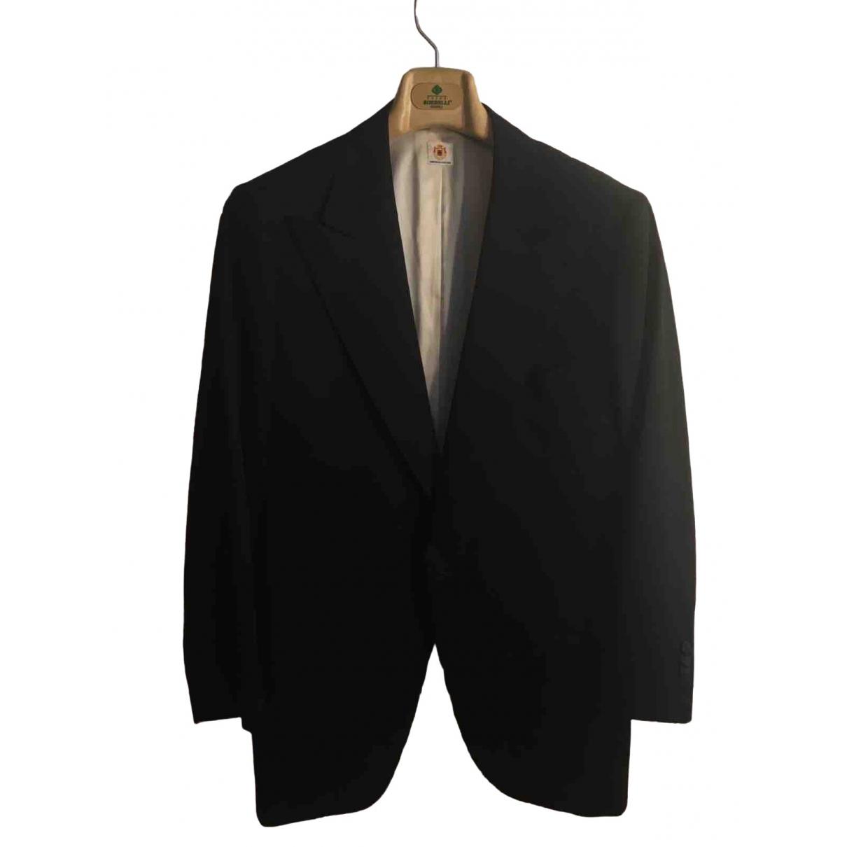 Borrelli \N Black Wool Suits for Men 52 IT