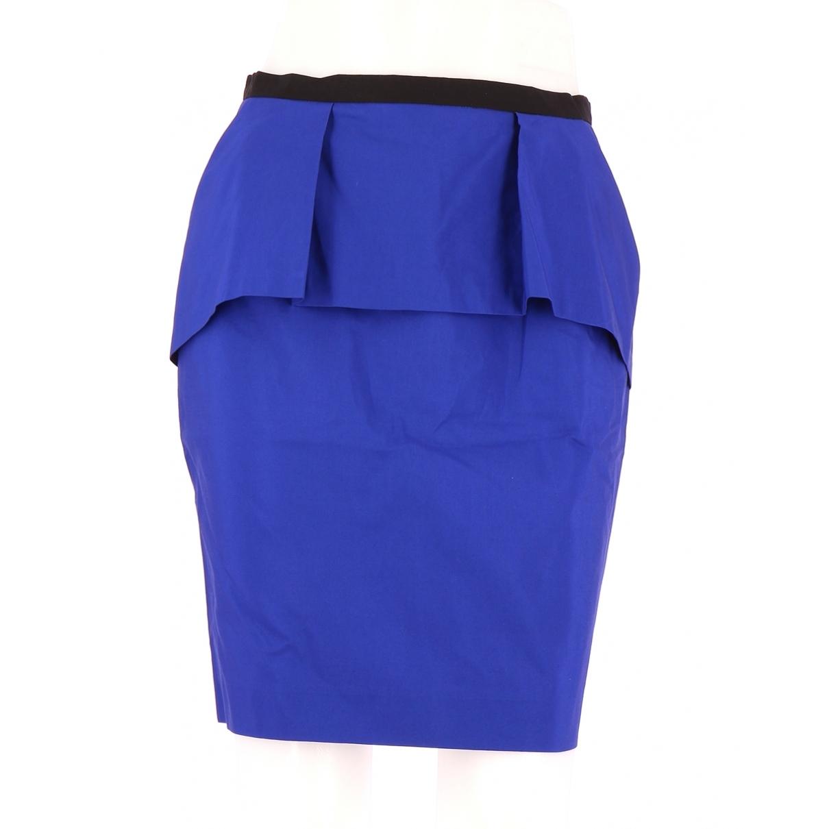 Comptoir Des Cotonniers \N Blue Cotton skirt for Women 38 FR