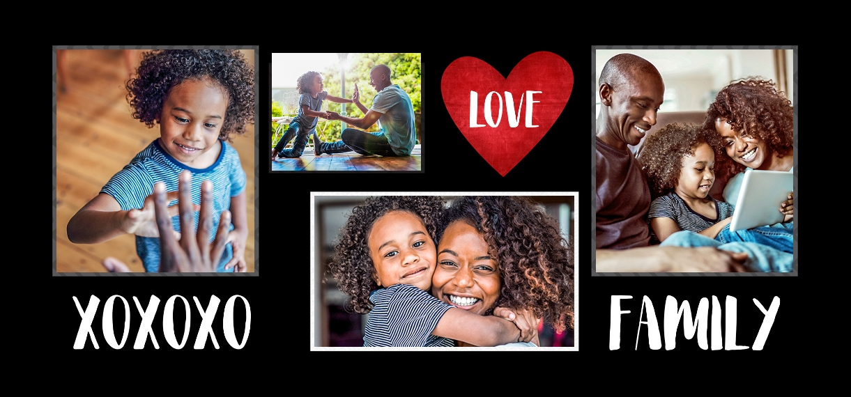 Family + Friends 11 oz. Black Accent Mug, Gift -Family XO