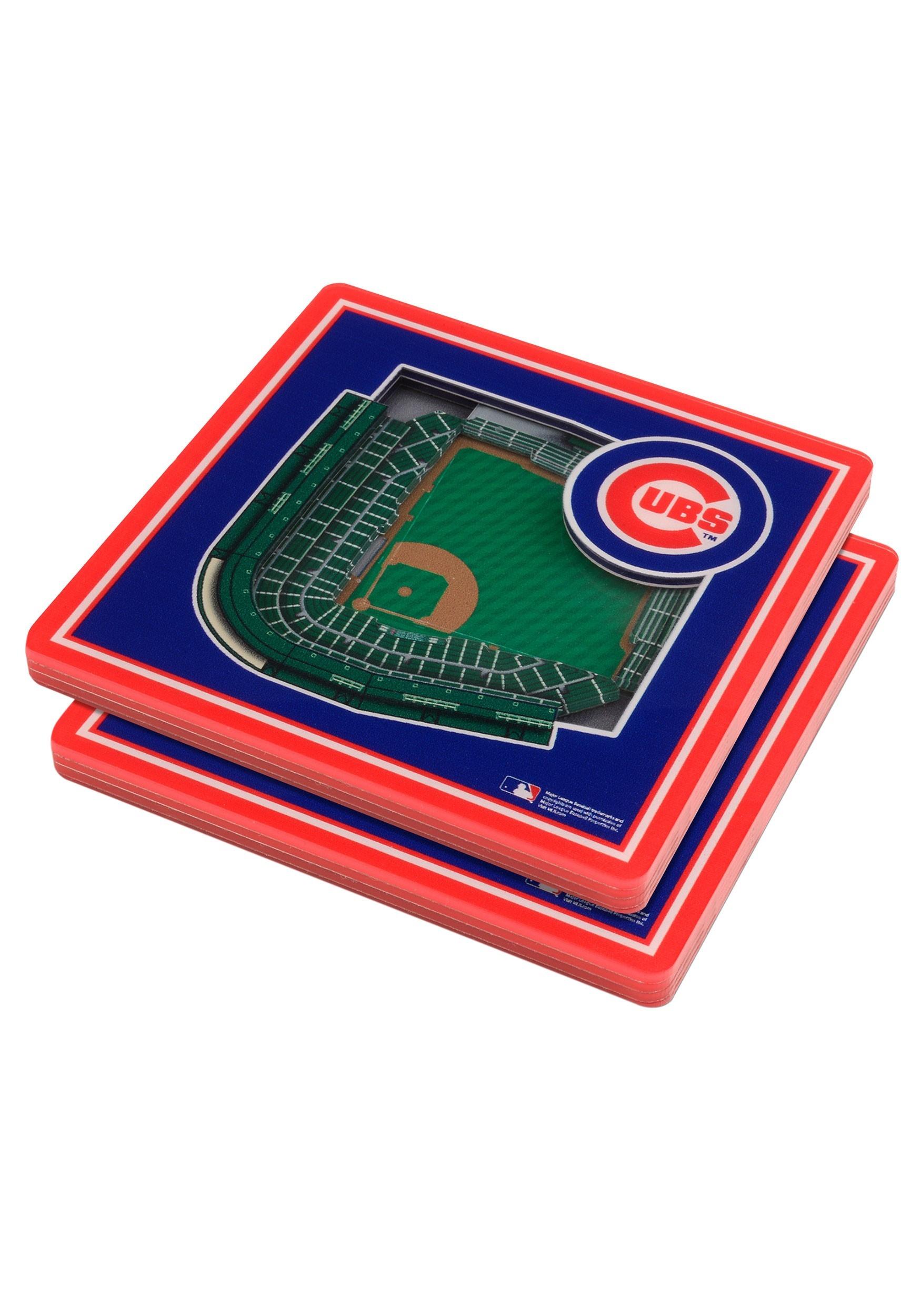 3D Chicago Cubs Stadium Coasters