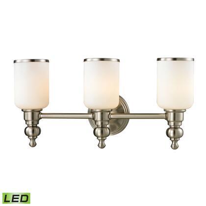11582/3-LED Bristol Collection 3 Light bath in Brushed Nickel -