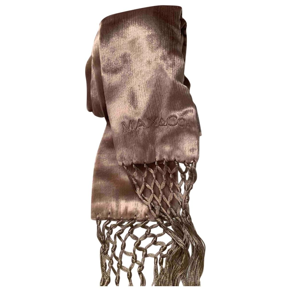 Max & Co \N Beige Velvet scarf for Women \N