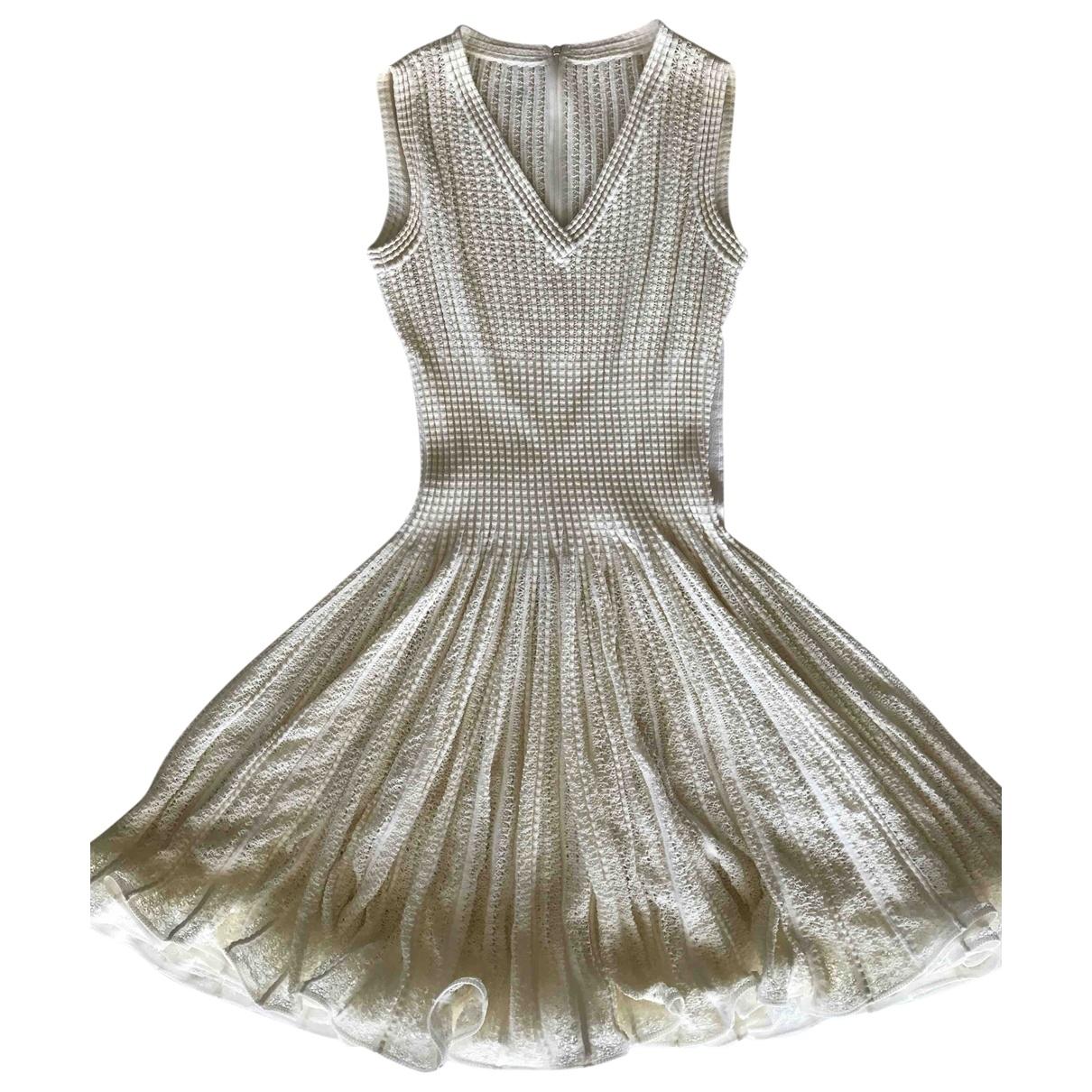 Alaia - Robe   pour femme en coton - elasthane - ecru