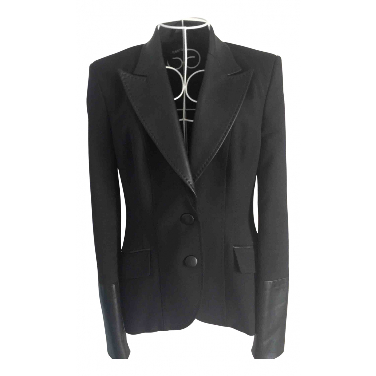 Flavio Castellani \N Black Leather jacket for Women 46 IT