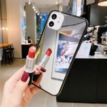 1 pieza funda de iphone de espejo