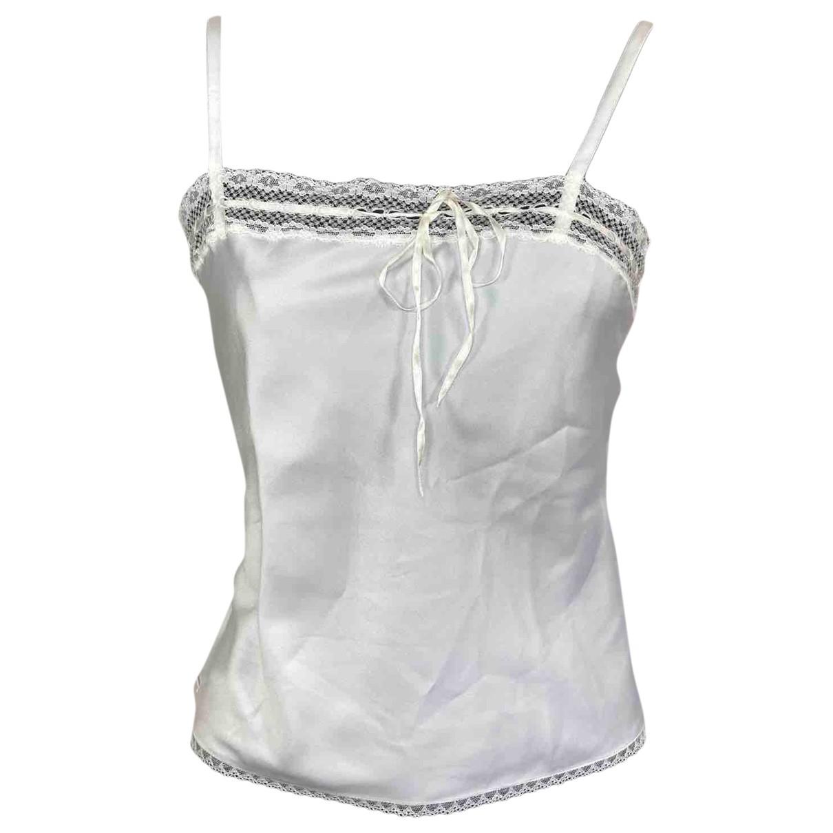 Dior \N White Silk  top for Women 40 FR