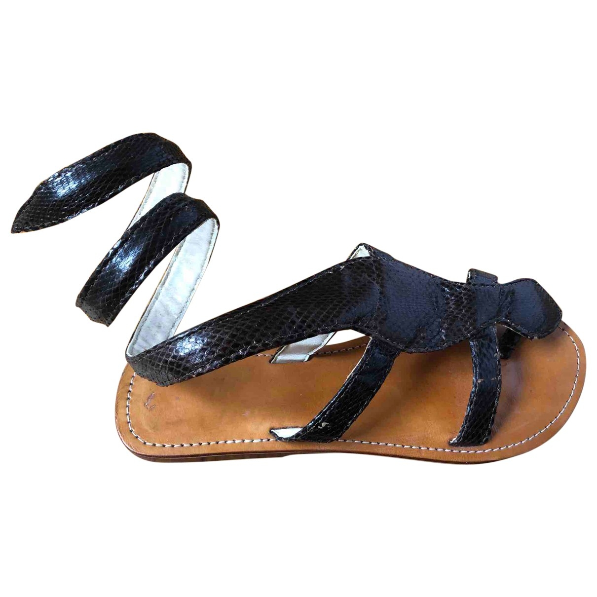 Non Signé / Unsigned \N Brown Leather Sandals for Women 37 IT