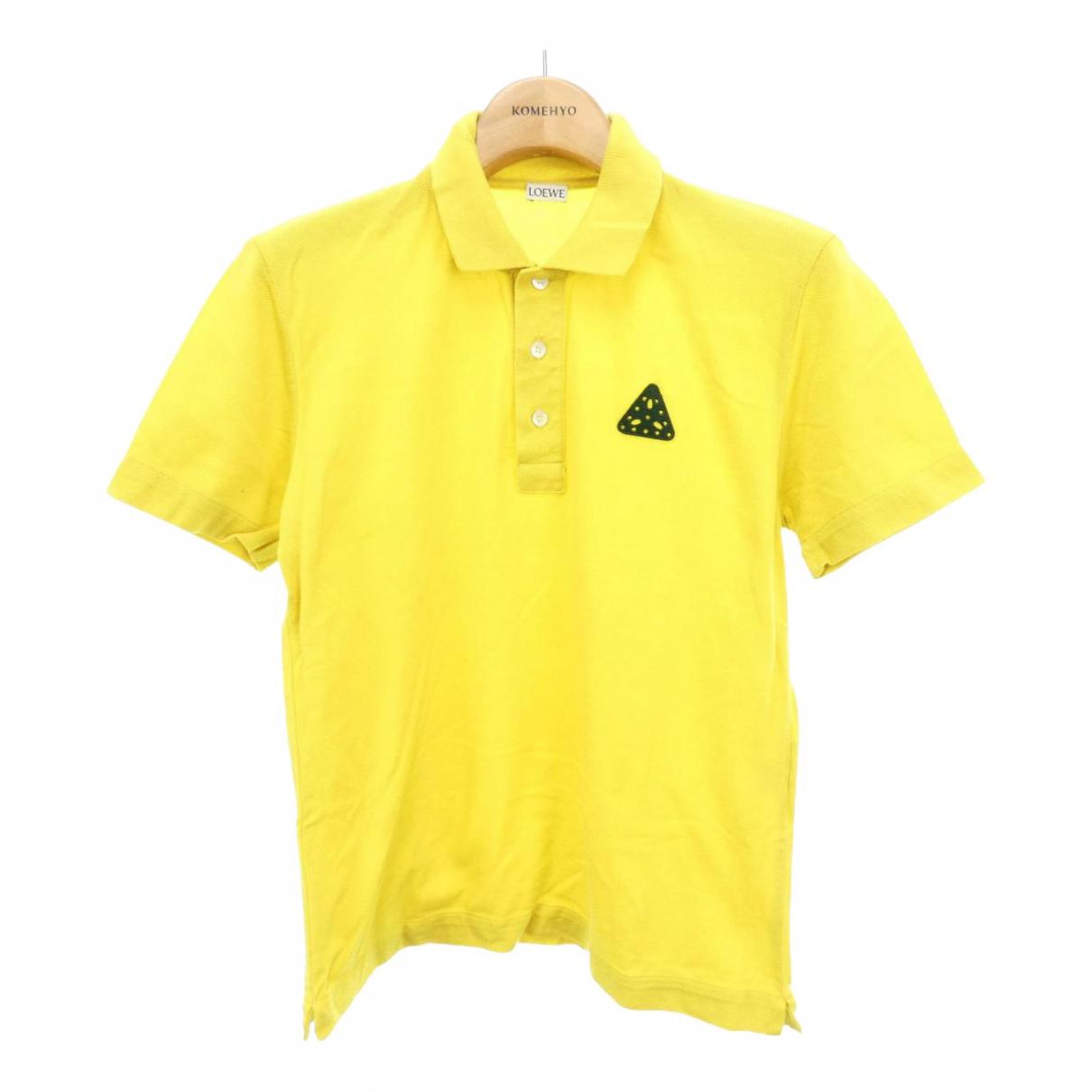 Polo en Algodon Amarillo Loewe
