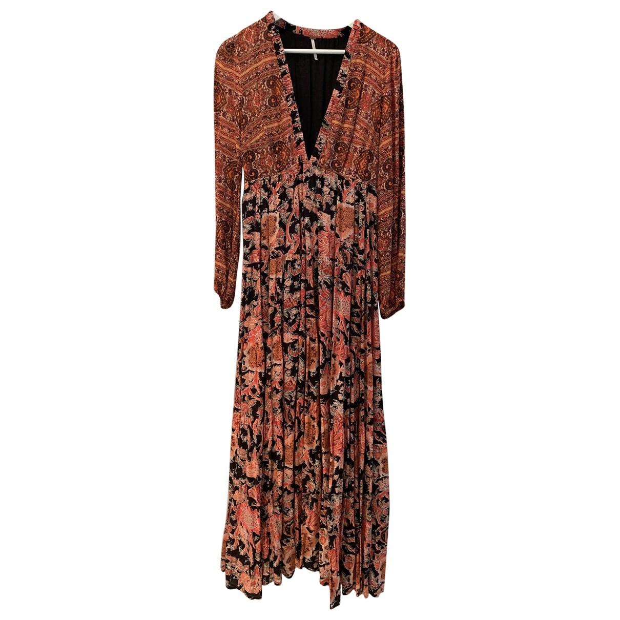 Free People - Robe   pour femme en coton - multicolore