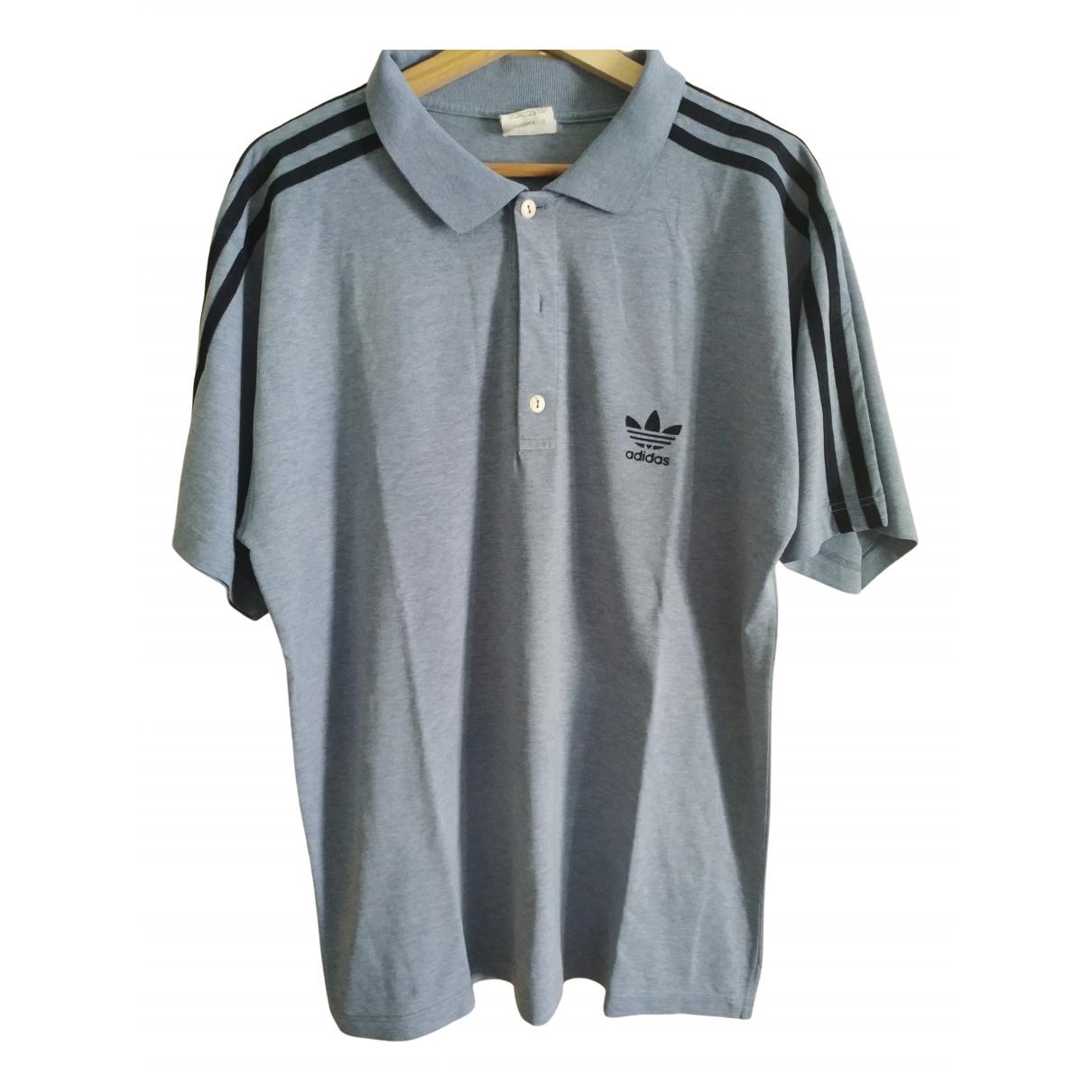 Adidas \N Poloshirts in  Grau Baumwolle