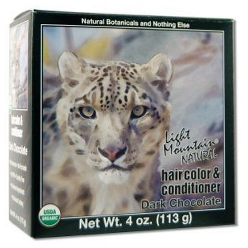Narural Hair Color & Conditioner Dark Chocolate 4 Oz by Light Mountain