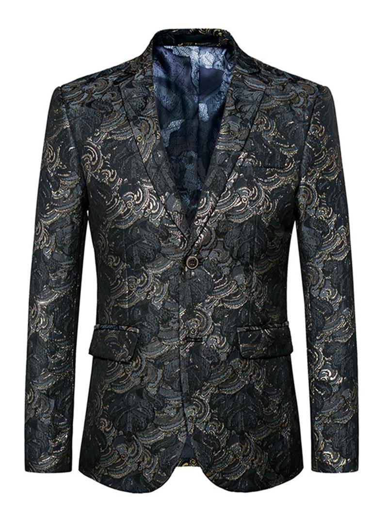 Ericdress Notched Lapel jacquard Men's Blazer