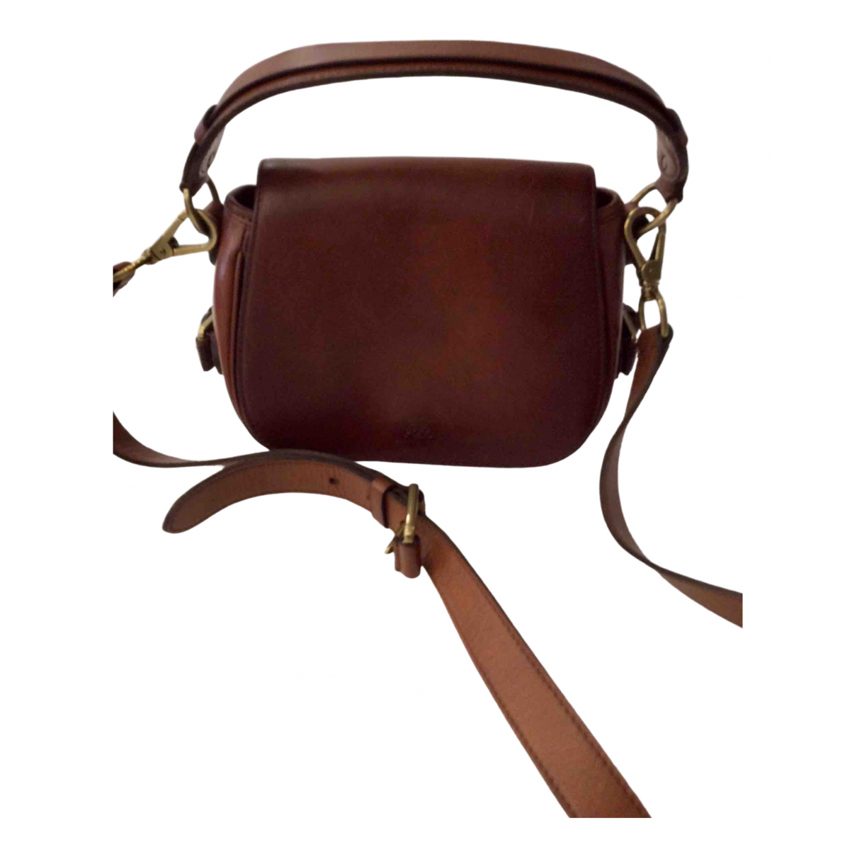 Polo Ralph Lauren - Sac a main   pour femme en cuir - marron