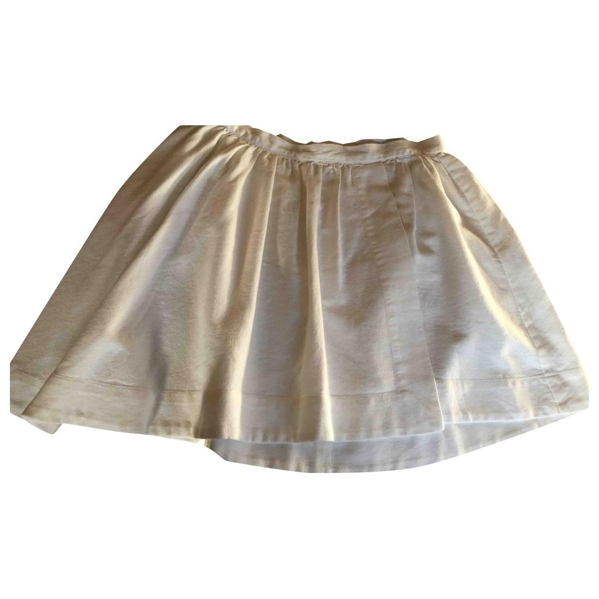 Iro \N White Cotton skirt for Women 38 FR