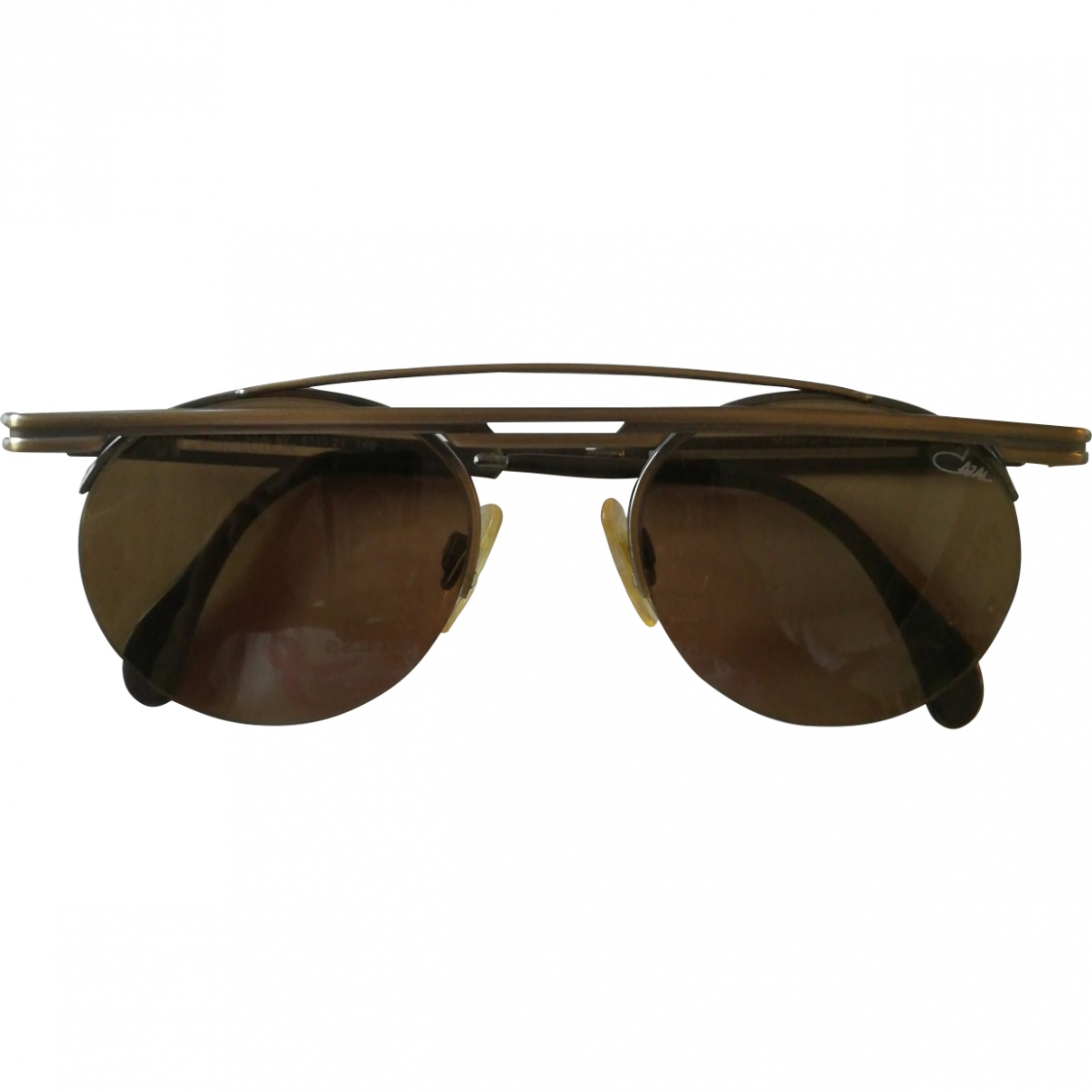 Cazal \N Brown Metal Sunglasses for Men \N