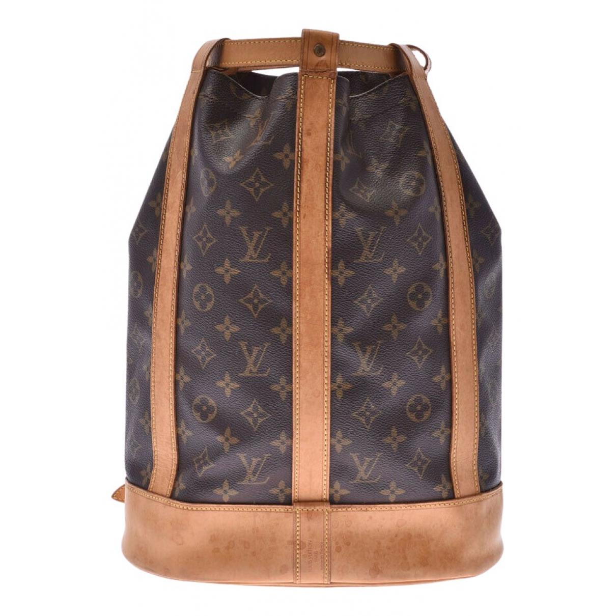 Louis Vuitton Randonnée Brown Cloth handbag for Women \N