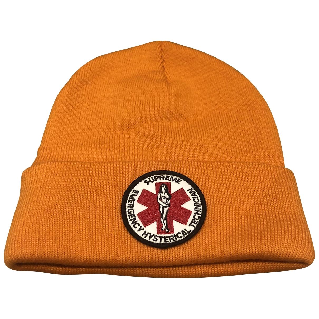 Supreme - Chapeau & Bonnets   pour homme - orange