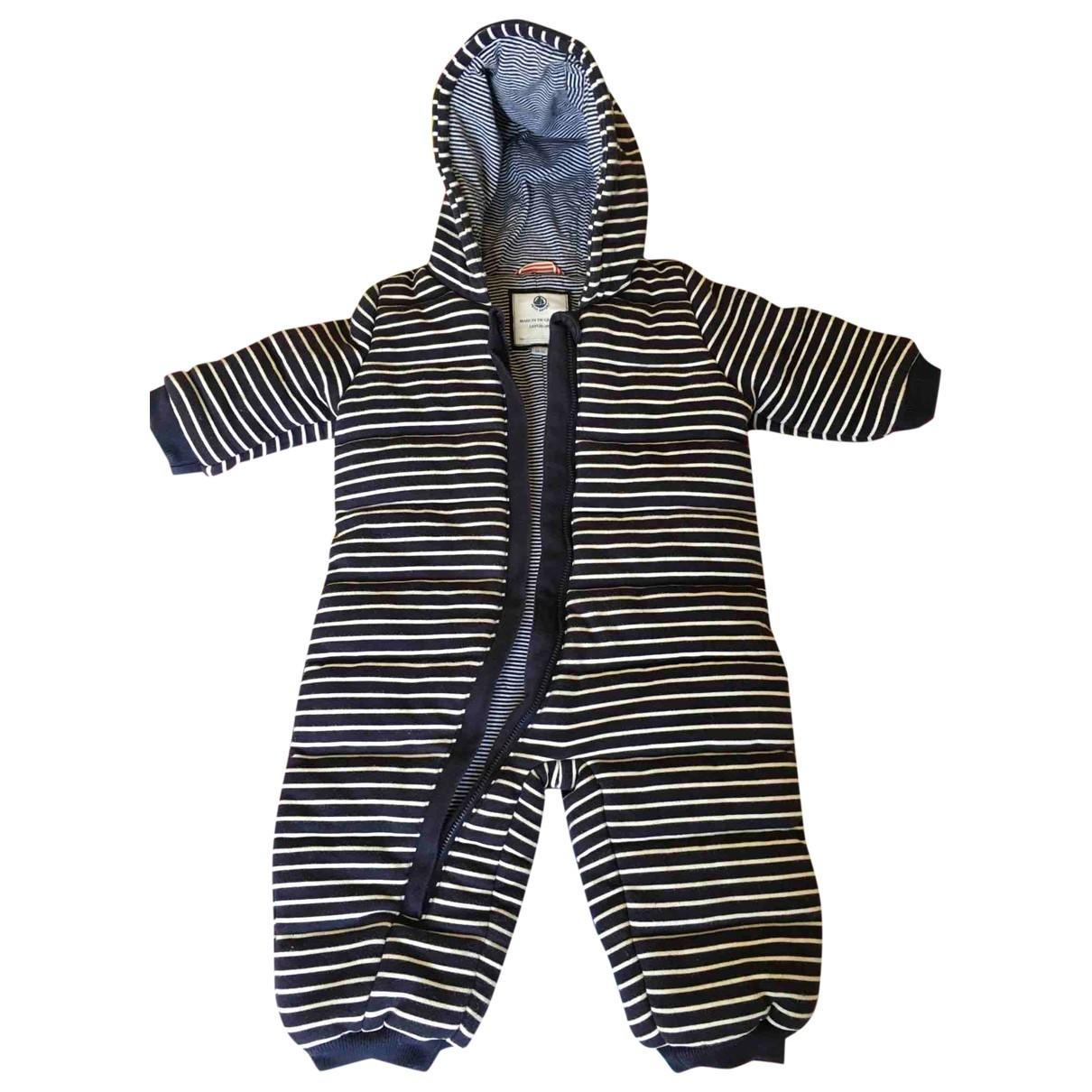 Petit Bateau - Blousons.Manteaux   pour enfant en coton - bleu