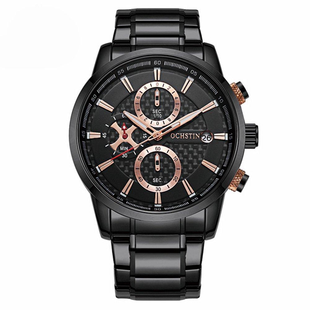 Full Steel Business Men Watches Waterproof Date Display Quartz Watch Luxury Male Clock