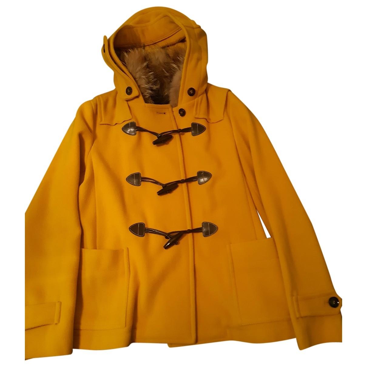 Max Mara Weekend \N Yellow Wool coat for Women 8 US