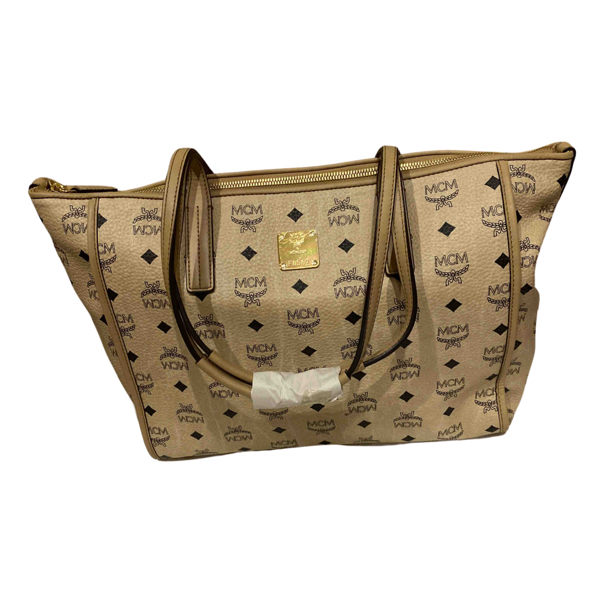 Mcm N Beige Leather handbag for Women N