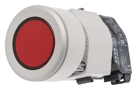 EAO Illuminated Push Button Switch, IP65, Red, Panel Mount, Momentary for use with  04 Series Contact Block -40°C +55°C