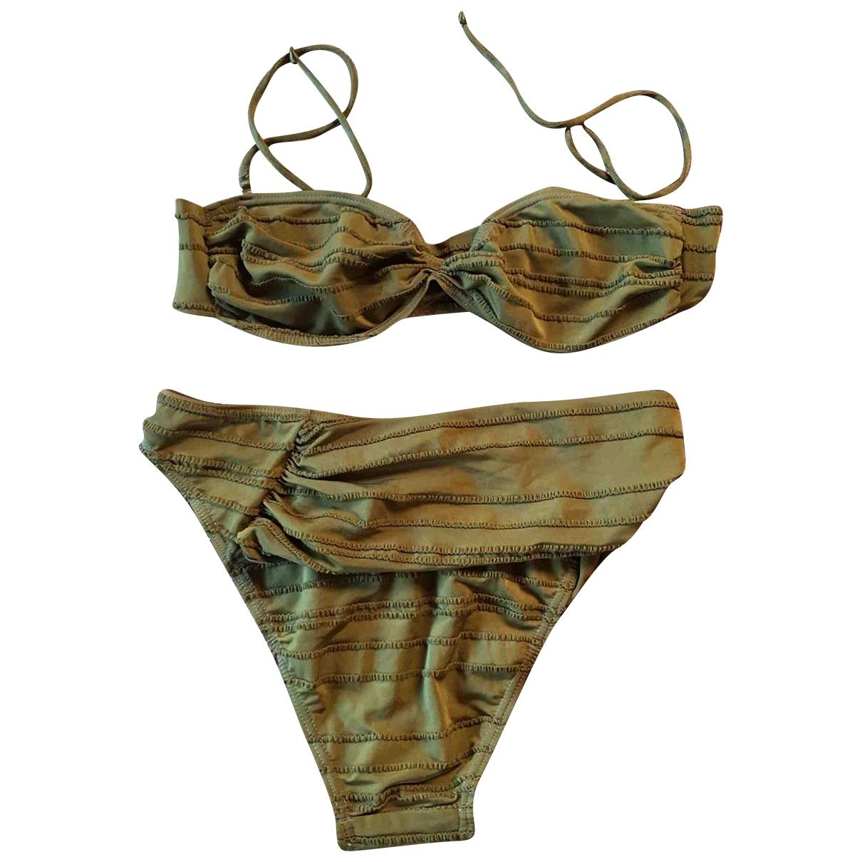 Non Signé / Unsigned \N Khaki Lycra Swimwear for Women 42 IT