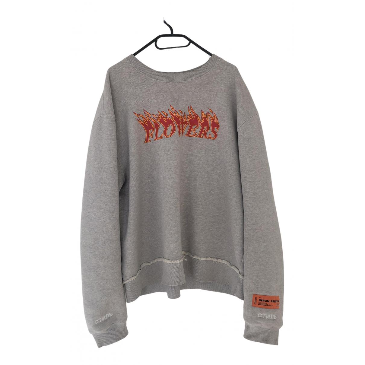 Heron Preston \N Pullover.Westen.Sweatshirts  in  Grau Baumwolle