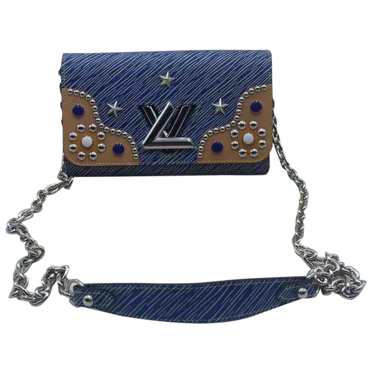 Louis Vuitton Twist Handtasche in  Blau Leder