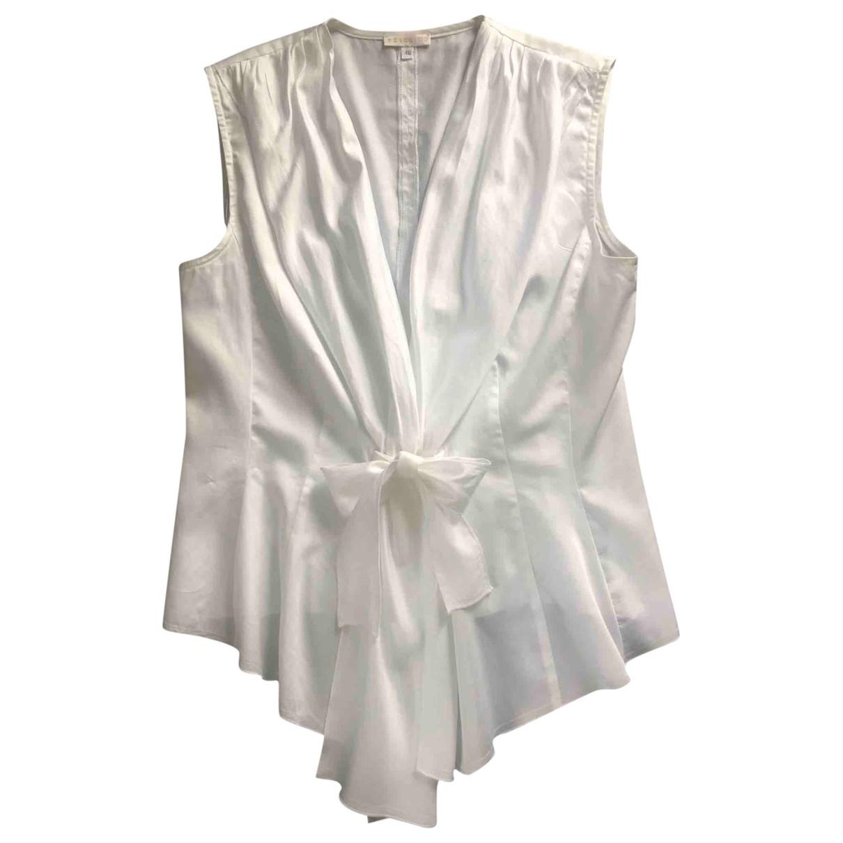 Peserico - Top   pour femme en coton - blanc