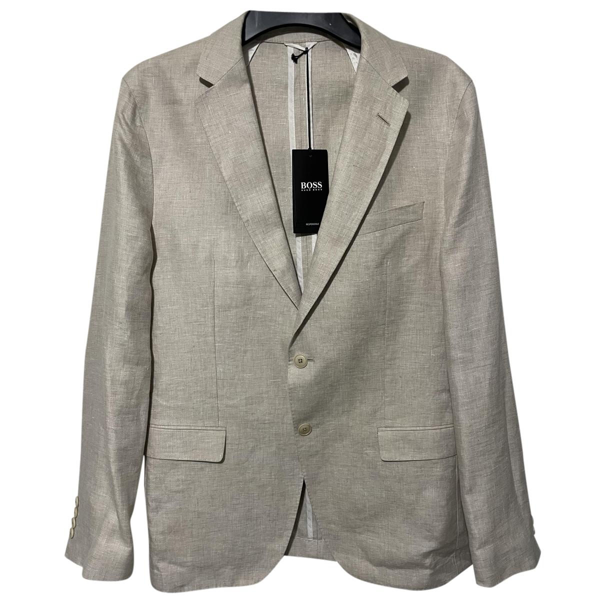 Boss N Beige Linen Suits for Men 52 IT
