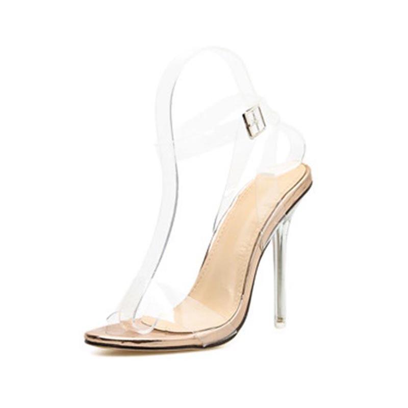 Ericdress Buckle Stiletto Heel Open Toe Thread Sandals