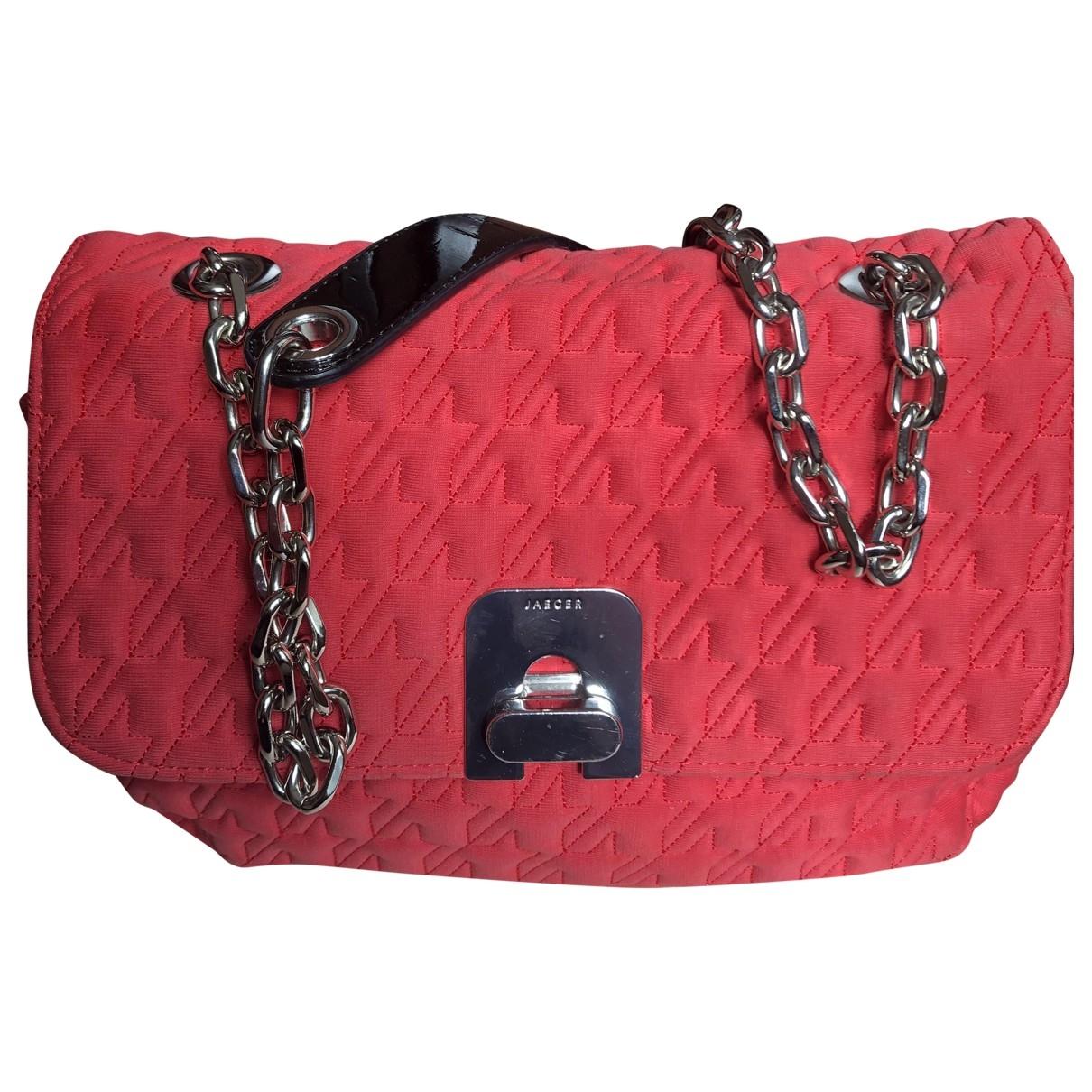 Jaeger \N Handtasche in  Rot Baumwolle